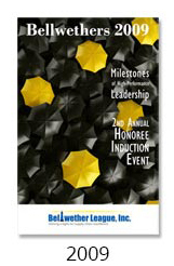 Bellwethers Honoree Induction Event program cover